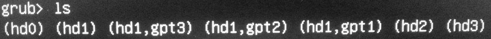 Grub консоль. Запускаем Linux